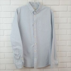 Frank & Oak Striped Cotton Button Down Shirt